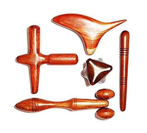Set 5 Pcs Reflexology Thai Massage Wooden Stick Hand